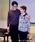 Gabriele Duranti e Davide Pola dopo l'esecuzione a quattro mani al pianoforte
